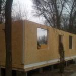 Сборка стен дома