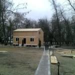 Установка крыши дома