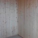 4.Спальня. Пол-плитка. Стены и потолок вагонка.