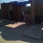 Ставим стены 2-го этажа СИП-панель 174 мм