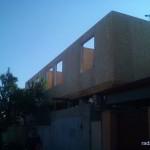 Стены смонтированы, приступаем к крыше