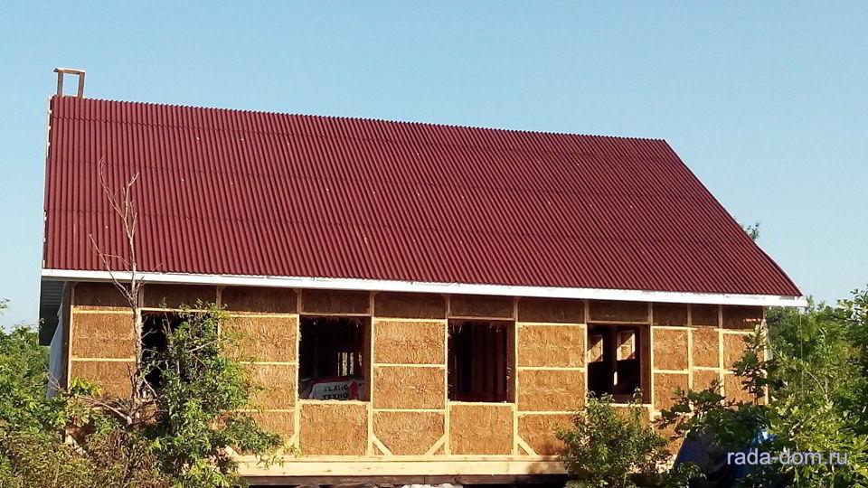 Дома из панелей, прессованных соломой