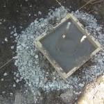 Залили бетонный столбчатый фундамент
