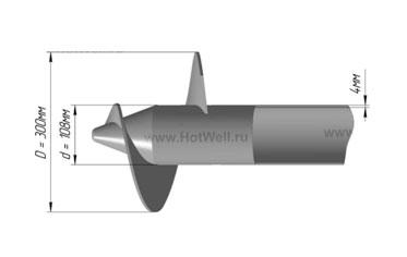 screw pile anchor винтовая свая 108 мм