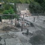 2. Делаем бетонный столбчатый фундамент