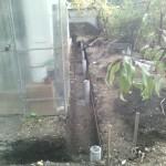 1. Делаем бетонный столбчатый фундамент