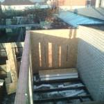 4. Закончили стены первого этажа.