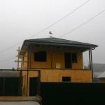 10. Закрепили подшиву крыши+водосточную систему+флюгер. Объект готов