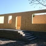 2.Смонтировали стены дома. СИП-174 мм