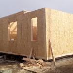 3. Смонтировали стены первого этажа СИП- 164 мм
